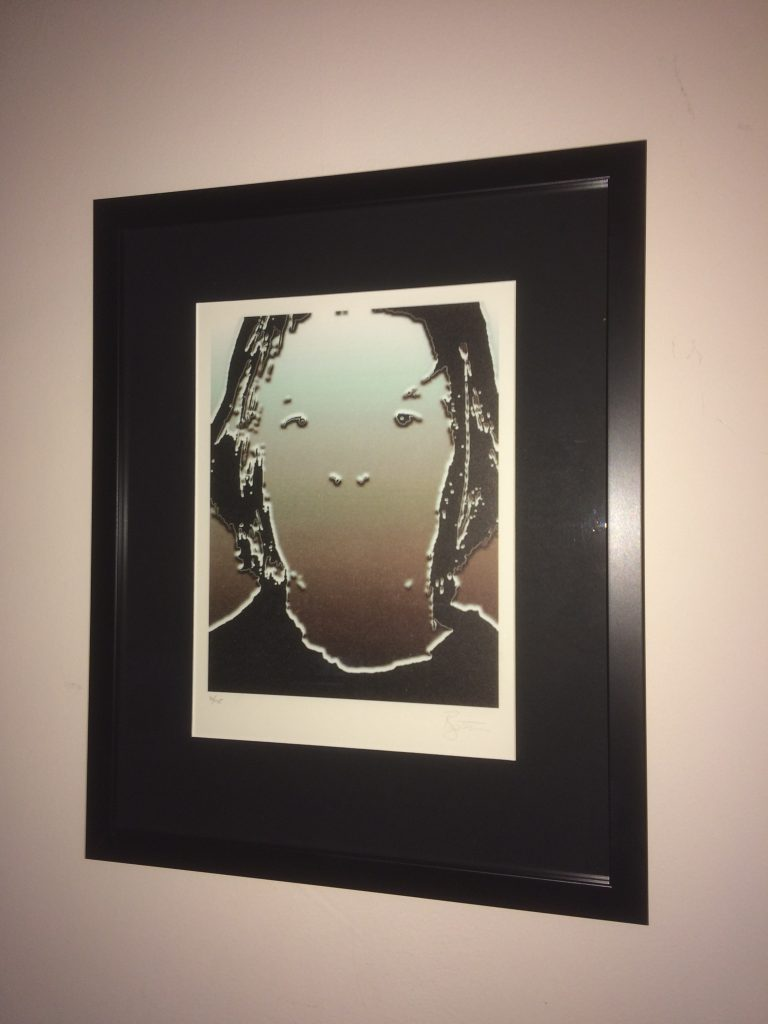 David Bowie Signed Self Portrait Lithograph