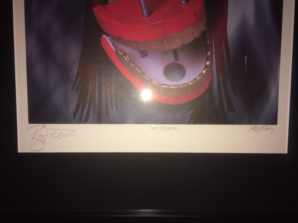 David Bowie Signed Ziggy Stardust Lithograph